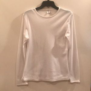 Warm Essentials White Long Sleeve T-shirt, L